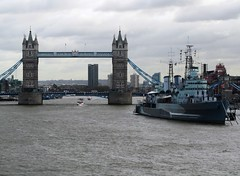 London, Tower Bridge and HMS Belfast (Stuart Axe) Tags: uk bridge england london history monument thames museum towerbridge boat marine ship landmark hmsbelfast maritime riverthames royalnavy museumship