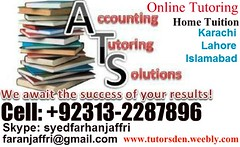 pakistani tutor, pakistani tuition, skype tutor, accounting tutor, mba accounts, Inter, karachi academy