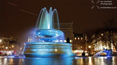 Fountain (Ian Garfield - thanks for over 1 Million views!!!!) Tags: city blue london water fountain night square ian photography town long exposure gallery aircraft capital trails trafalgar national garfield