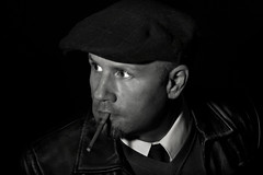 Me (Donald Palansky Photography) Tags: selfportrait me portraits sony cigar smoking portraiture alpha smoker flatcap a99 blackandwhiteportraitphotography 135mmf18za donaldpalansky sonyslta99v
