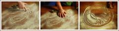 Lotti Drawing in the Flour while Baking Christmas Cookies - Triptych: Portrait 2 / Erasing / Portrait 3 ~ Weihnachtskekserlbacken mit Lottchen Triptychon Mehlzeichnen: Portrt 2 / Lschen / Portrt 3 (hedbavny) Tags: vienna wien christmas wood portrait white art girl face angel weihnachten creativity austria sterreich kid gesicht outsiderart triptych advent child hand drawing candid kunst snapshot portrt kind gift memory present form engel kche flour mehl cookiecutter nikolaus holz geschenk mdchen backen lotti erinnerung christmascookies krampus eltern kleinkind weis lschen fotoalbum triptychon zeichnen kreativitt spontan maserung mehlspeise temporr kinderzeichnung holzbrett lottchen nikolo biscuitcutter ausstechform weihnachtskeks christmasbiscuits auslschen bermalen erinnerungsfoto weihnachtsvorbereitung wegwischen keksform hedbavny ingridhedbavny mehlzeichnung
