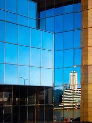 City of Glass (raspu) Tags: uk inglaterra blue england sky abstract reflection building london glass rio azul thames modern river riverside edificio creative queen cielo reflejo londres abstracto cristal ribera tamesis creativo modeno londonlondresukengland