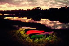 Canoes at night (Massachusetts Office of Travel & Tourism) Tags: summer ma outdoors island capecod massachusetts canoes marthasvineyard paddling