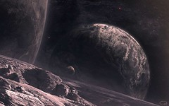 Black-Planet-Rock (GurshobitBrar) Tags: blue red galaxy planets newworlds