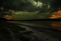 Night time (Tony Shertila) Tags: sunset red england sky beach water weather night clouds river dark europe cloudy britain explore cumbria arnside