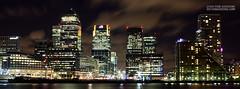 Canary Wharf Skyline - London (victorguidini) Tags: london thames night wharf canary londonskyline