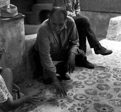 Ted DeGrazia and his cholla floor. (DeGrazia Gallery in the Sun) Tags: arizona sun ted art architecture artist gallery desert tucson az adobe degrazia catalinas ettore vision:outdoor=0886