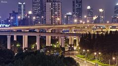 /  mountainous city (blackstation) Tags: china road street city travel urban skyline architecture canon buildings shanghai fair viaduct clear highways cbd     inspiring clearsky skyscraping  blinkagain