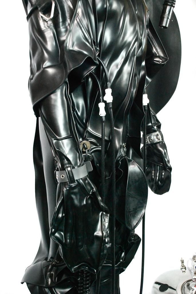 Latex vacuum suit