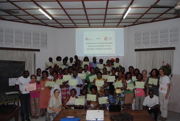 Finalización curso ASSU en Guinea Ecuatorial