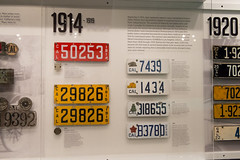 California License Plates 1914-1919 (mark6mauno) Tags: california museum nikon plate automotive license plates nikkor 1919 1914 1915 1917 1918 petersen 1916 d4 petersenautomotivemuseum nikond4 2470mmf28g