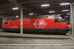 2014-02-04, CFF, Brig Depot, Re 460 024 (Fototak) Tags: train switzerland eisenbahn railway treno brig valais re460 elok sbbcffffs 460024