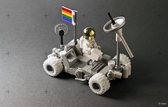 The LGBT Rover (_Tiler) Tags: moon lego space flag rover astronaut lgbt vehicle exploration apollo lunar moonrover lunarrover lrv