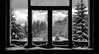 Winter Window (valent68) Tags: snow nature mountain bw noiretblanc sad winter kittens kitten windows snowy beautiful test paysage black white blackwhite tree light break explore impressedbeauty flickrfriday viewfrommywindow