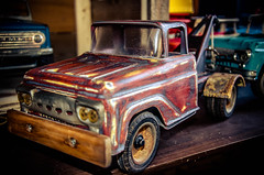 The Junkyard Dog (Strangely Different) Tags: ford scale vintage toys miniature rat restoration custom towtruck tonka ratrod kustom nylint buddyl structo