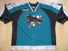 San Jose Sharks 1999 - 2000 road game worn jersey (kirusgamewornjerseys) Tags: game hockey scott nhl san jose icehockey worn jersey sharks hannan