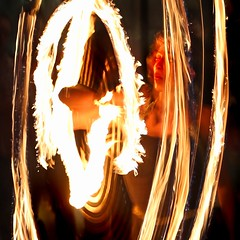 Fremantle fire dancer (beninfreo) Tags: longexposure night fire movement australia fremantle freo westernaustralia firedancer sailanchor