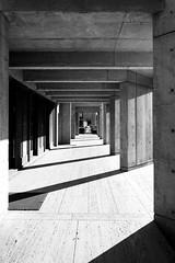 Lines & Shadows (FoolishMastermind) Tags: white black architecture for louis san diego institute kahn biological salk studies