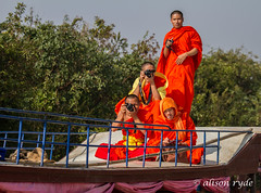 Monk ey business (alison ryde - back in town for now) Tags: voyage travel holiday tourism water river boats asia cambodia southeastasia phototrip tonlesap 2014 tributary kampongphluk