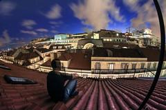 WAITING (Rober1000x) Tags: city longexposure rooftop portugal night waiting europa europe lisboa lisbon historic roofs bluehour portogallo cityview 2014 historicheritage