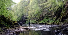 fishing in the north esk (stusmith_uk) Tags: river landscape scotland fishing aberdeenshire angus edzell northesk gannochy