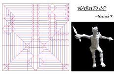 Origami Naruto Cp (Neelesh K) Tags: anime origami naruto creasepattern origaminaruto