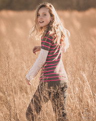 Golden  [Explore 29Jan15] (rhn3photo) Tags: family portrait girl field sunshine youth golden bokeh outdoor map january young blonde matte 2015