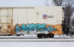 Koi (quiet-silence) Tags: railroad art train graffiti railcar koi unionpacific graff freight reefer sfl armn fr8 nbd