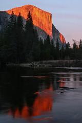 The El Capitan, Yosemite National Park (davidcmc58) Tags: california sunset rock river nationalpark yosemite elcapitan mercedriver