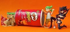 Who ate all Pringles?  (Damien Saint-) Tags: dark toy japanese amazon lego von vinyl batman stormtrooper pepsi fireball hatsune miku yotsuba flgel vador danbo drossel matoi calbee amazoncojp ryuko revoltech danboard figma killlakill