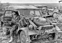 "German Volkswagen ""Kübelwagen"" on the Eastern Front, 1943 • <a style=""font-size:0.8em;"" href=""http://www.flickr.com/photos/81723459@N04/16448719152/"" target=""_blank"">View on Flickr</a>"