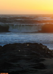 FebruaryWindSwell102 (mcshots) Tags: ocean california winter sunset sea usa texture beach nature evening coast surf waves stock windy socal mcshots southbay winds swells seas losangelescounty