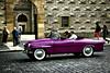 Classic Skoda @ Prague (PaulHoo) Tags: color car contrast nikon republic purple czech prague pavement vibrant transport 2009 skoda lightroom d300 topazlabs