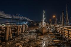 DSC_3627_1280 (Vrakpundare) Tags: longexposure winter seascape ice river gteborg boat cityscape waterfront nightshot sweden gothenburg sverige klippan gtalv lvsborgsbron nattbild henryblom vrakpundare
