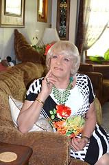 Thinking Thoughts (Laurette Victoria) Tags: woman pose necklace dress blonde laurette
