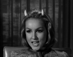"Julie Newmar, ""Of Late I Think of Cliffordville"" 37 (Tom Simpson) Tags: woman sexy television vintage devil 1960s pinup devlin julienewmar succubus thetwilightzone vintagetelevision"