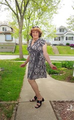Feeling A Bit Girly Today (Laurette Victoria) Tags: woman girl dress auburn sidewalk milwaukee laurette