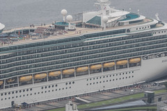 Arrival of a big cruise ship 14 (kmmanaka) Tags: japan nagasaki cruiseship fog rain harbor internationalterminal rose