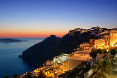 Thira sunset (ivanBu) Tags: longexposure sunset sea island holidays honeymoon hellas santorini greece cyclades thira d5200 nikond5200 bukvicivan
