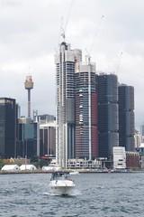 Sydney tower and Barrangaroo (Val in Sydney) Tags: harbour sydney australia nsw australie