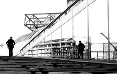 On both sides (pascalcolin1) Tags: blackandwhite paris reflection stairs noiretblanc miroir bercy reflets escalier miror streetview photoderue urbanarte photopascalcolin