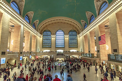Grand Central Terminal, New York (john.gillespie) Tags: new york nyc sunset ny newyork station skyline night buildings subway evening twilight skyscrapers traffic manhattan central grand trains terminal rush hour grandcentralstation rushhour grandcentral