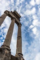 Sotto il velo del cielo (LuxTDG) Tags: world city sky italy rome clouds italia nuvole roman forum capital columns cielo capitale eternal lazio citt fori colonne imperiali the eterna