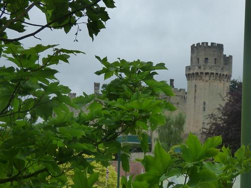 Warwick Castle - seen from Banbury Road, Warwick - Caesar's Tower