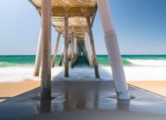 Hermosa Pier (andrewpabon) Tags: longexposure beach losangeles waves daytime hermosa ndfilter