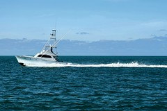 The Ocean Blue (ChristopherSmith.Photo) Tags: ocean blue sea sky cloud water fun waves ship horizon atlantic minimalism