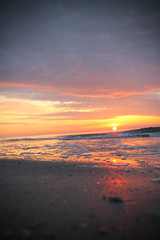 on the horizon (studioei8htzero.com) Tags: ocean travel beach sunrise sand waves explore