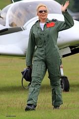 Carol Vorderman   J78A0036 (M0JRA) Tags: people flying aircraft airshow carol planes raf cosford vorderman