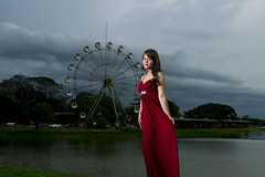 The Woman in Red (Cho Shane) Tags: red portrait woman lake beautiful clouds wow wonderful evening amazing nice model nikon scenery pretty dress cloudy outdoor dusk yangon flash scenic sigma scene lakeside flashphotography portraiture stunning beautifulwoman ferriswheel amusementpark myanmar beautifulcolors elegant dslr wonderland amateur cloudporn breathtaking beautifulview reddress prettygirl farriswheel cloudyday modelshoot wonderlust portraitphotography elegent sigmalens amazingview beautifulcomposition amazingshot stunningbeauty inyalake amazingbeauty stunningview breathetaking stunningshot amazingsight dslrcamera amazingcomposition dslrphotography sigma1750 flashflavor stunningmoment sceneryphoto sceneryporn sceneryphotography nikond5300 scenerylove