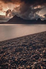 The Sky Is Falling (Iain Brooks) Tags: sunset mountains skye water sunrise landscape coast scotland long exposure elgol